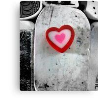 heart shaped eraser Canvas Print