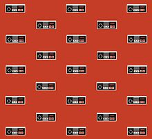 Nintendo Entertainment System Controller Pattern by verendus