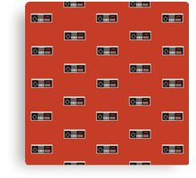 Nintendo Entertainment System Controller Pattern Canvas Print