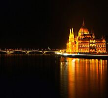 Budapest At Night by jelliefishphoto