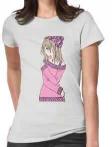 Hipster Girl Womens Fitted T-Shirt