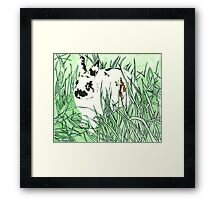 Daily Doodle 21- Moustache - White Chocolate Moustache Framed Print
