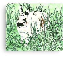 Daily Doodle 21- Moustache - White Chocolate Moustache Canvas Print