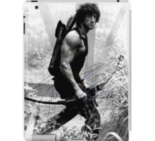 Rambo Stallone Autographed Photo B/W 1980's iPad Case/Skin
