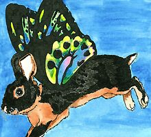 Daily Doodle 19- Creature - Bunnyfly by ArtbyMinda