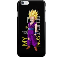 dragon ball z gohan super saiyan i believe in you my son anime manga shirt iPhone Case/Skin