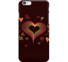 LOVE-Wireframe Warped Heart iPhone Case/Skin
