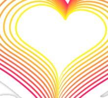 LOVE-Wireframe Warped Heart Sticker