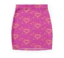 LOVE-Wireframe Warped Heart Mini Skirt