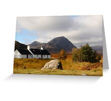 Black Rock Cottage Glen Coe Greeting Card