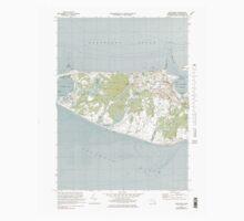 Massachusetts  USGS Historical Topo Map MA Nantucket 350340 1972 24000 Kids Tee