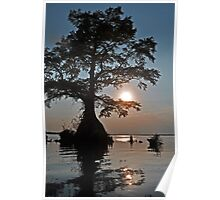 Sunset on Lake Drummond Poster