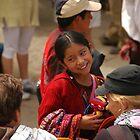 Mayan girl at market by Stephen Tapply