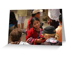 Mayan girl at market Greeting Card