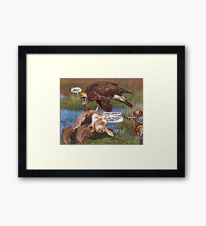 M Blackwell - Just Acting... Framed Print