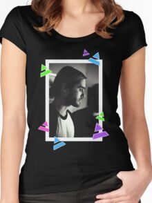 Manbun Jared Leto Women's Fitted Scoop T-Shirt