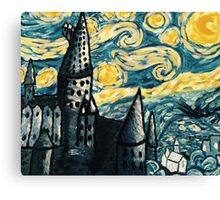 Starry Night Over Hogwarts Canvas Print