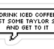 Taylor Swift & Iced Coffee Sticker