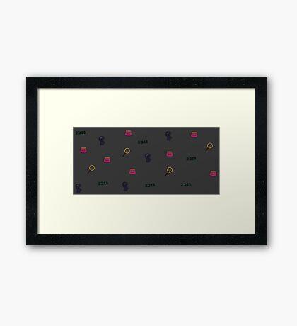 221B print Framed Print
