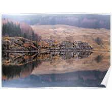 Misty Reflections in Loch Lubhair Poster