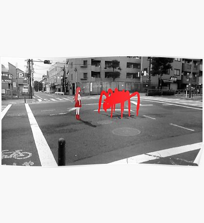 Monogatari – Red Crab Poster