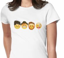 Fall Out Emojis Womens Fitted T-Shirt