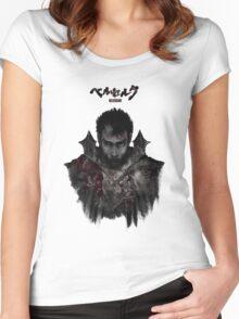 Berserk - Guts / Gattsu - The Black Swordsman Women's Fitted Scoop T-Shirt