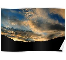 Vivid colours at Sunset Poster