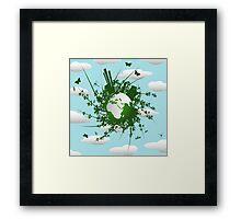 Eco friendly background Framed Print