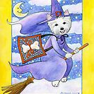 Halloween Westie by Laura J. Holman