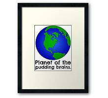 Doctor Who - Planet of the Pudding Brains Framed Print