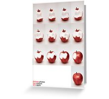 one apple Greeting Card