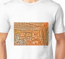 Grungy Skycam Room at Eastern State Penetentiary Unisex T-Shirt