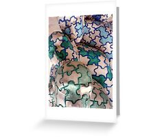 Puzzled faces? Greeting Card