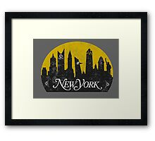 New York (The Cities of Comics) Framed Print