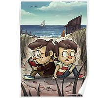 Glass Shard Beach Poster