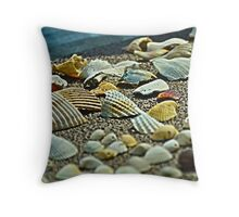 Shell Yard Throw Pillow