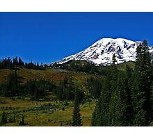 Mt. Rainier and Paradise Inn Photographic Print