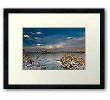 Mono Lake Early Evening Lenticular Clouds Framed Print