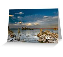 Mono Lake Early Evening Lenticular Clouds Greeting Card