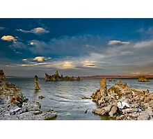 Mono Lake Early Evening Lenticular Clouds Photographic Print