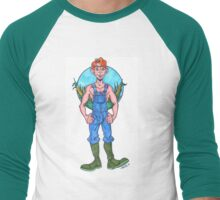 Farmboy with Cornfield Patch Men's Baseball ¾ T-Shirt