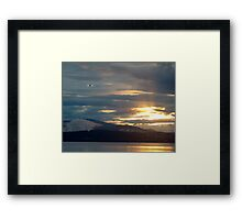 Landing at Sunset Framed Print