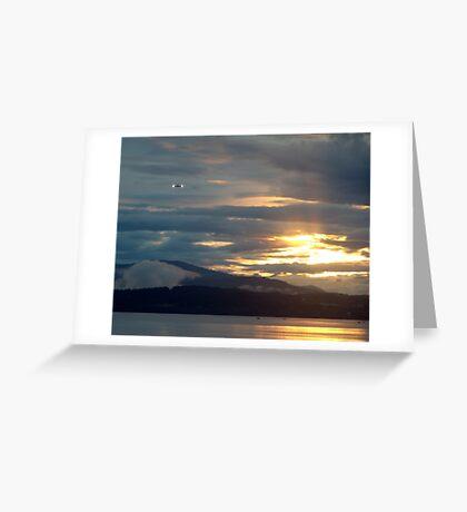 Landing at Sunset Greeting Card