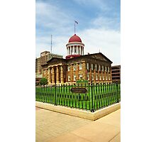 Springfield, Illinois - Old State Capitol Photographic Print