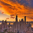 Mono Lake CA Sunset on Fire by photosbyflood