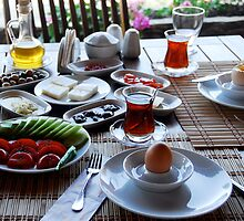 A Turkish Breakfast or Khavalti by Johannes  Huntjens