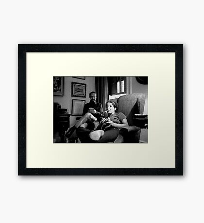 Smoking Cigarettes and Watching Captain Kangaroo Framed Print