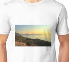 Mountain Top View - Myrtos Bay Unisex T-Shirt