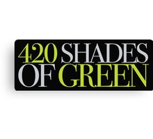420 SHADES OF GREEN Canvas Print